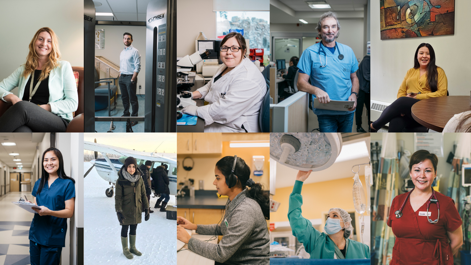 Casual Health and Social Services Employment - collage of health and care workers in the NWT