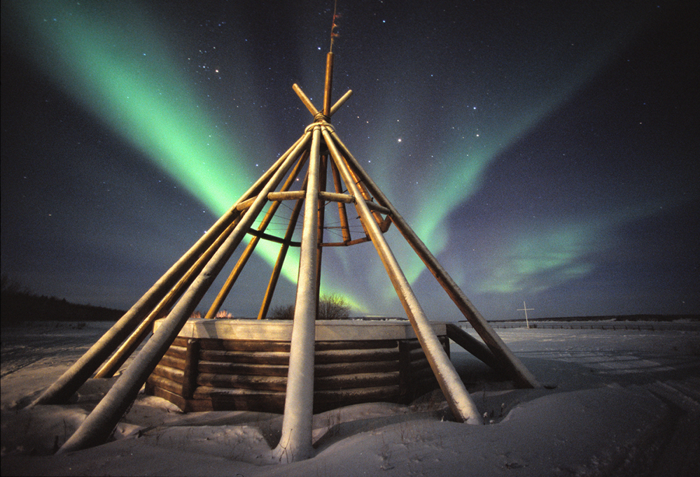 Teepee Northern Lights